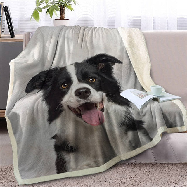 Border Collie Love Soft Warm Fleece Blanket - Series 3