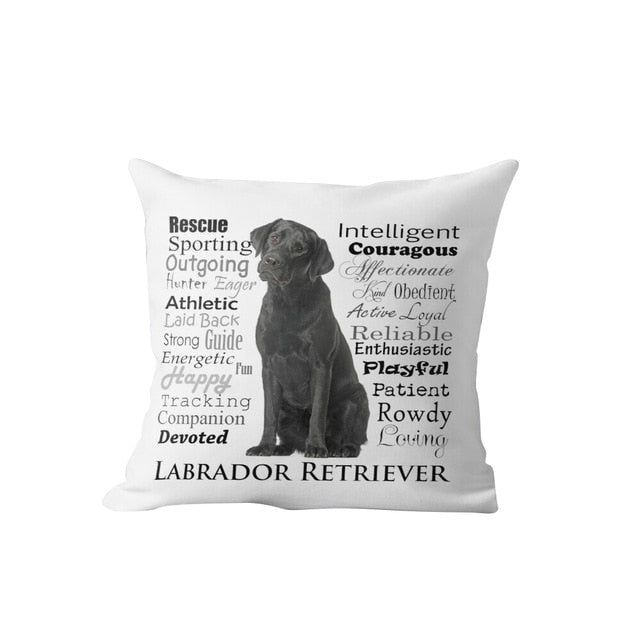 Why I Love My Black Labrador Cushion Cover