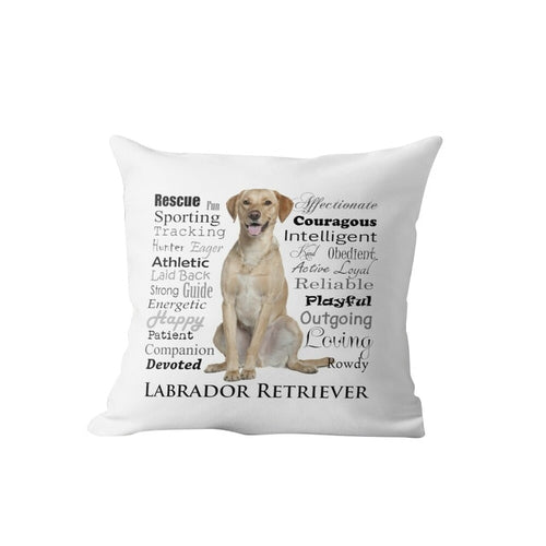 Why I Love My Yellow Labrador Cushion Cover