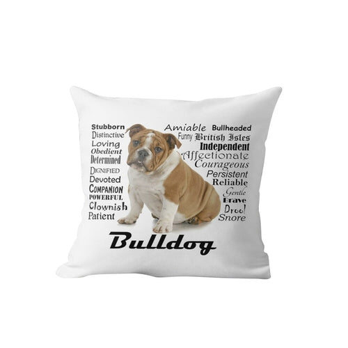 Why I Love My English Bulldog Cushion Cover