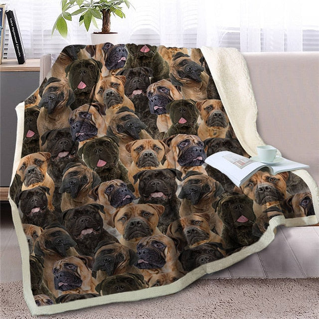 Some of the Bullmastiffs I Love Warm Blanket - Series 1