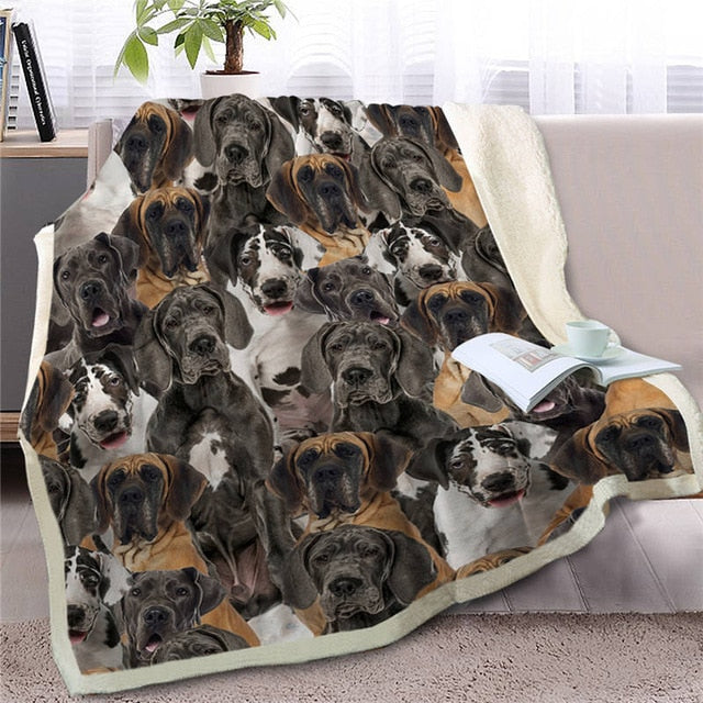 Some of the Great Danes I Love Warm Blanket - Series 1
