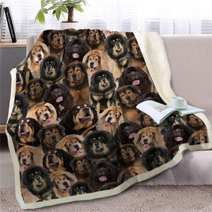 Some of the English Bulldogs I Love Warm Blanket - Series 1