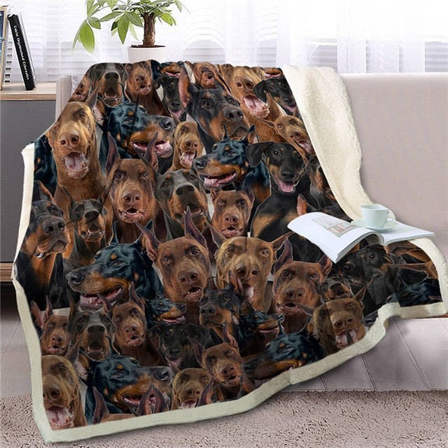 Some of the Dobermans I Love Warm Blanket - Series 1