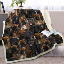 Load image into Gallery viewer, Some of the Bullmastiffs I Love Warm Blanket - Series 1