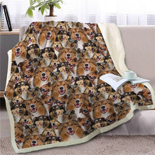 Load image into Gallery viewer, Some of the English Bulldogs I Love Warm Blanket - Series 1