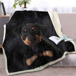 Schnauzer Love Soft Warm Fleece Blanket - Series 4