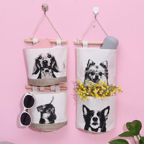 Doggo Love Multipurpose Door or Wall Hanging Storage Pouches