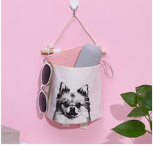 Load image into Gallery viewer, Border Collie Love Multipurpose Door or Wall Hanging Storage Pouch