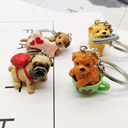 Cutest Resin Figurine Doggos Keychains