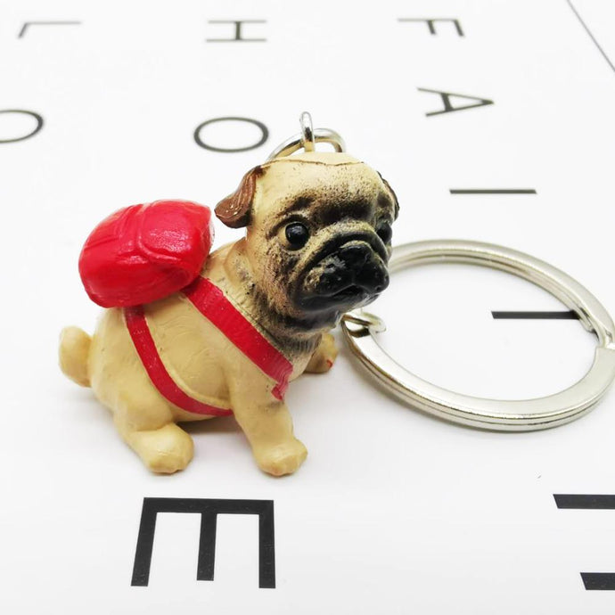 Cutest Resin Figurine Pug Keychain