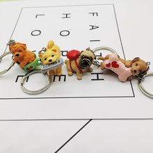 Load image into Gallery viewer, Cutest Resin Figurine Toy Poodle Keychain