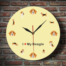 Load image into Gallery viewer, I Love My Beagle Wall Clock