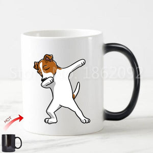 Color Changing Dabbing Jack Russell Terrier Coffee Mug