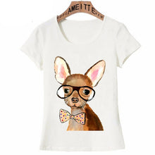 Load image into Gallery viewer, Polka-Dotted Bow Tie Chihuahua Womens T Shirt