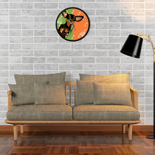 Load image into Gallery viewer, Colorful Dachshund Love Wall Clock