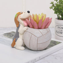 Load image into Gallery viewer, Sports Pug Succulent Plants Flower Pot