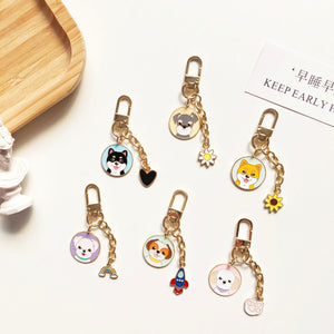 Cutest Metal Keychain for Maltese Lovers