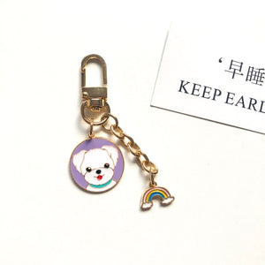 Cutest Metal Keychain for Siberian Husky Lovers