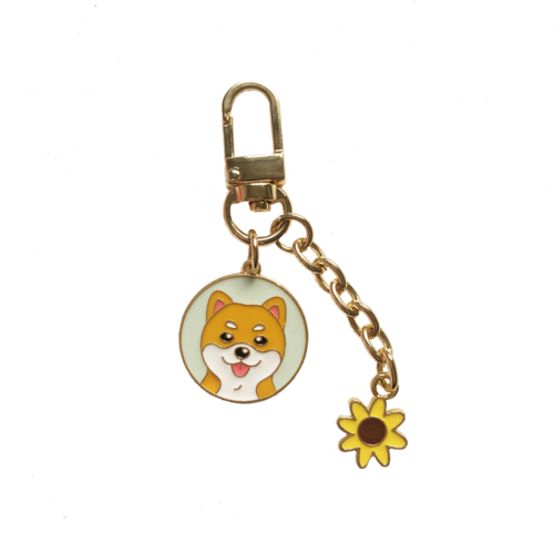 Cutest Metal Keychain for Shiba Inu Lovers