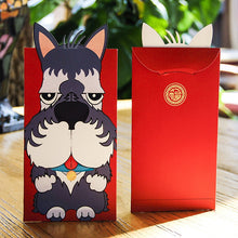 Load image into Gallery viewer, Some of the Dogs I Love Festive Money Envelopes - Boston Terrier, Bull Terrier, Husky, Komondor, Schnauzer & Scottish Terrier