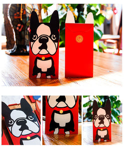 Some of the Dogs I Love Festive Money Envelopes - Boston Terrier, Bull Terrier, Husky, Komondor, Schnauzer & Scottish Terrier