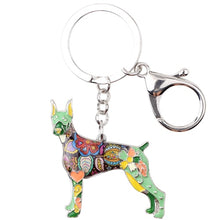 Load image into Gallery viewer, Beautiful Doberman Love Enamel Keychains