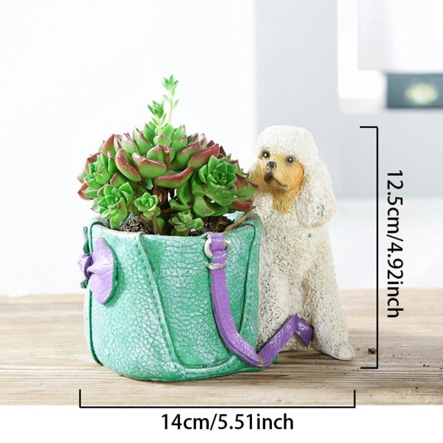 Cutest Poodle Love Succulent Flower Pot - Series 2