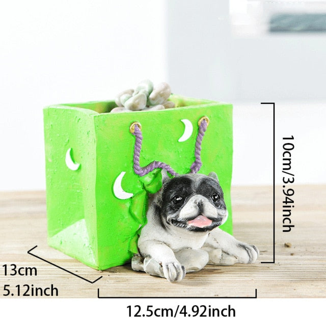 Cutest French Bulldog Love Succulent Flower Pot - Series 2