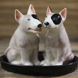 Beautiful Bull Terrier Love Salt and Pepper Shakers - Series 1