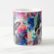 Load image into Gallery viewer, Color Changing Artistic Boston Terrier Coffee Mug