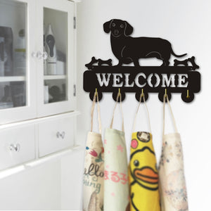 Dachshund Love Welcome Wall Hook
