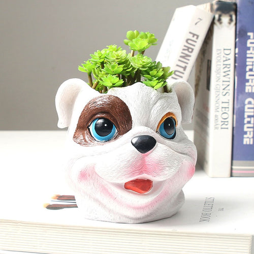 English Bulldog Love Decorative Flower Pot
