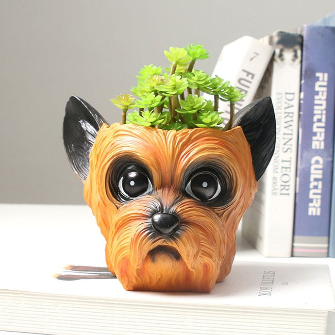 Yorkshire Terrier Love Decorative Flower Pot