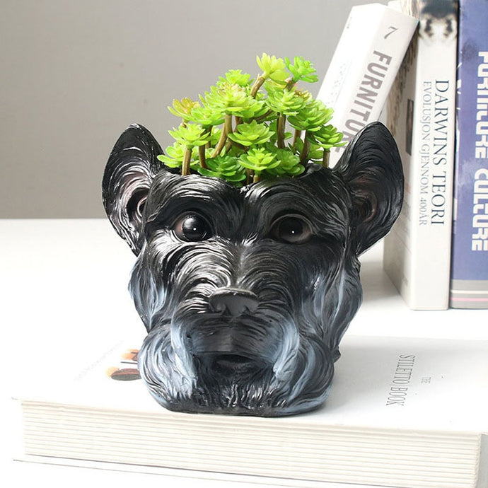 Scottish Terrier Love Decorative Flower Pot