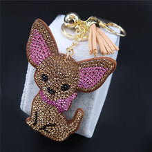 Load image into Gallery viewer, Blingy Chihuahua Stone-Studded Keychains
