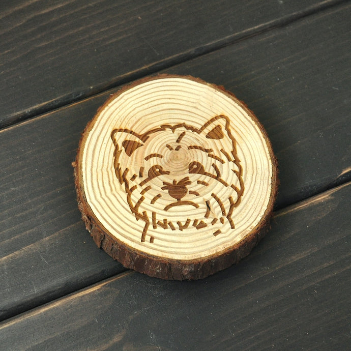 West Highland Terrier Love Engraved Wooden Coaster