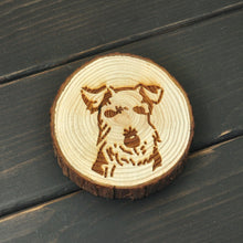 Load image into Gallery viewer, Schnauzer Love Engraved Wooden Coaster