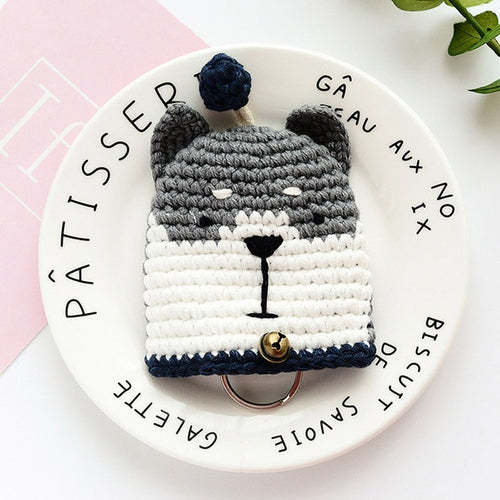 Husky Love Knitted Coin Purse and Keychain