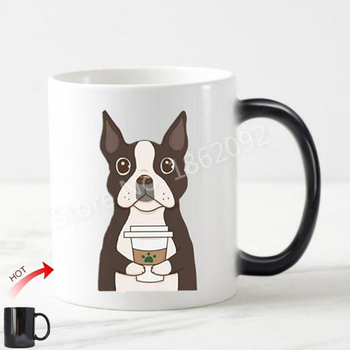 Color Changing Caffeinated Boston Terrier Coffee Mug