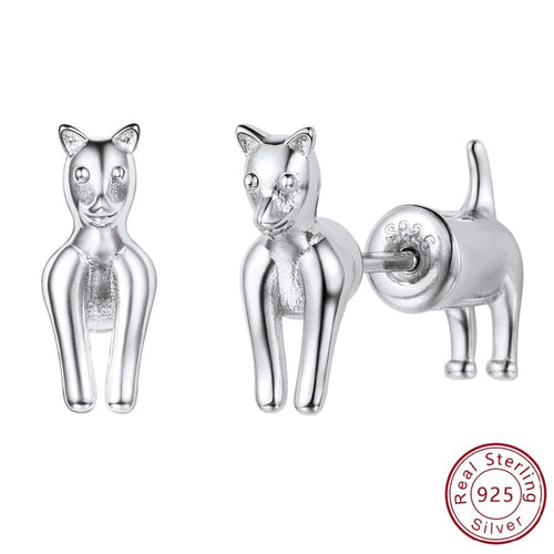 Two-Piece Chihuahua Silver Earrings