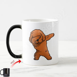 Color Changing Dabbing Toy Poodle Coffee Mug