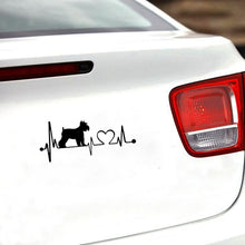 Load image into Gallery viewer, My Heat Beats Schnauzer Vinyl Car Stickers