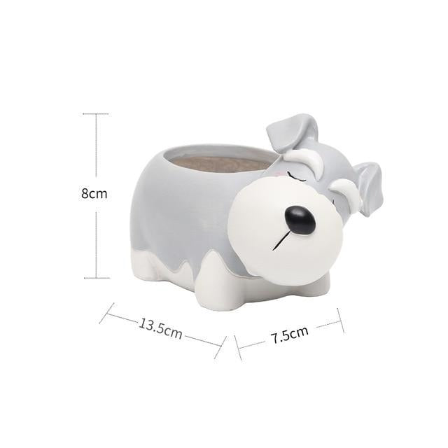 Cutest Schnauzer Love Succulent Plants Flower Pot