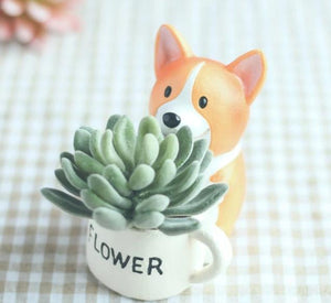 Cutest Pug Love Succulent Plants Flower Pot