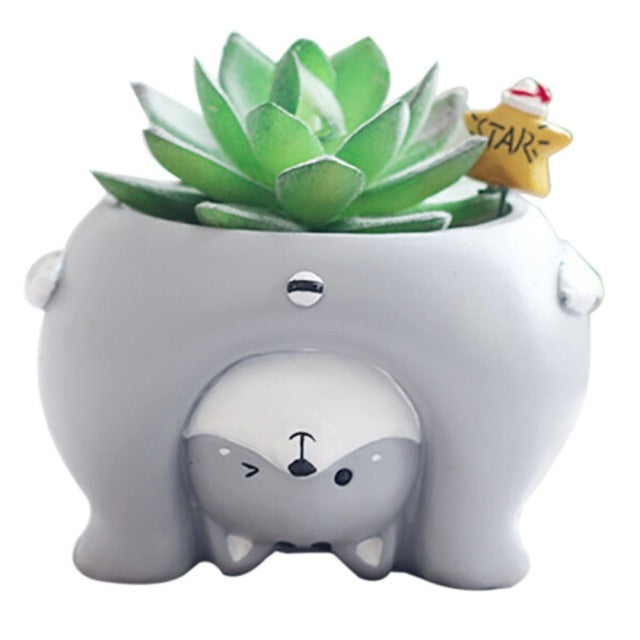 Cutest Husky Upside Down Love Succulent Plants Flower Pots
