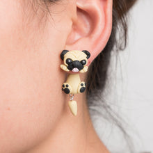 Load image into Gallery viewer, Pug Love Handmade Polymer Clay Earrings