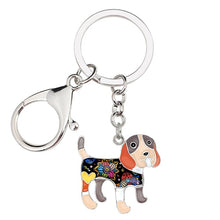 Load image into Gallery viewer, Beautiful Beagle Love Enamel Keychains