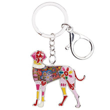 Load image into Gallery viewer, Beautiful Great Dane Love Enamel Keychains