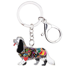 Load image into Gallery viewer, Beautiful Cavalier King Charles Spaniel Love Enamel Keychains